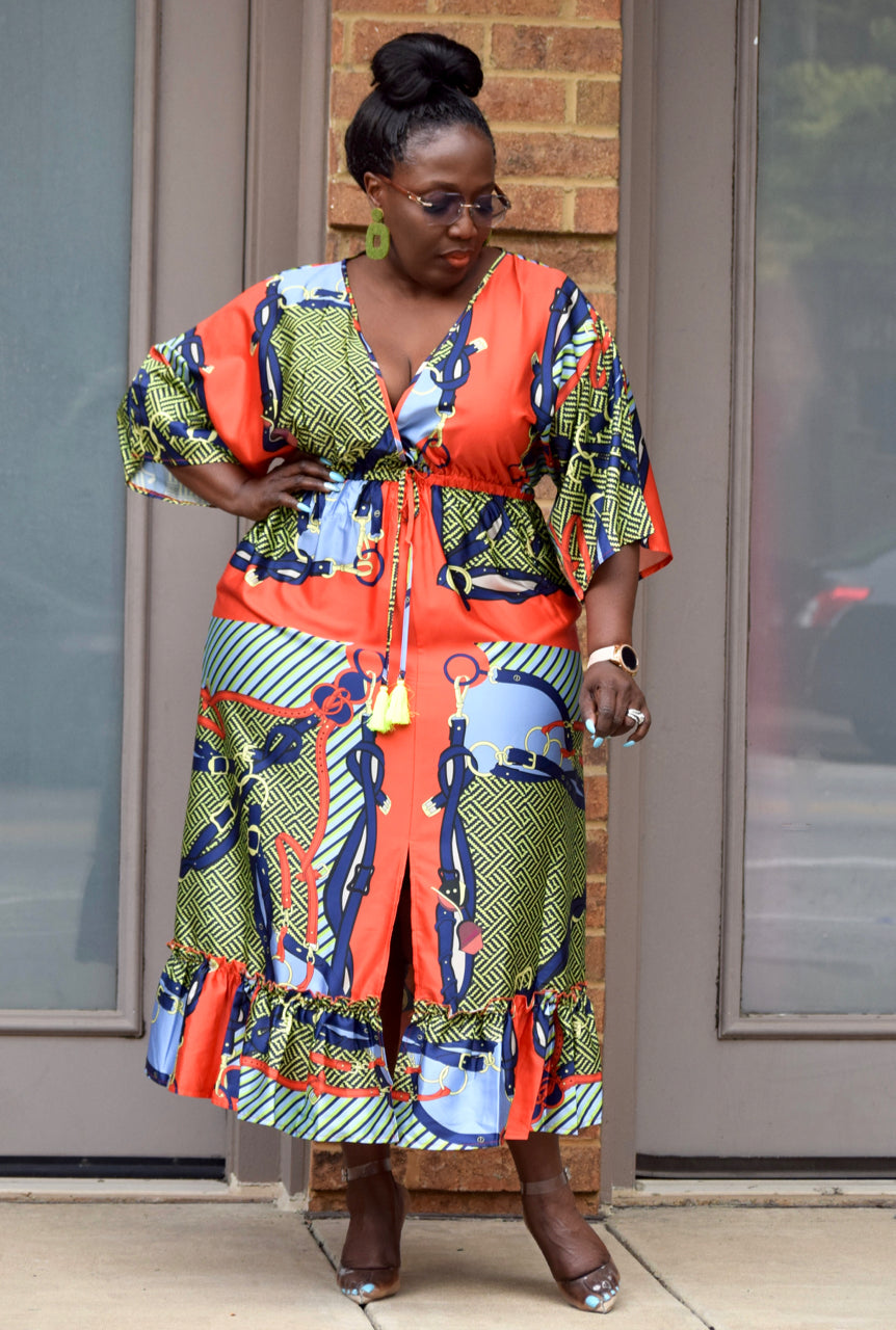Plus Size Versace Inspired Dress