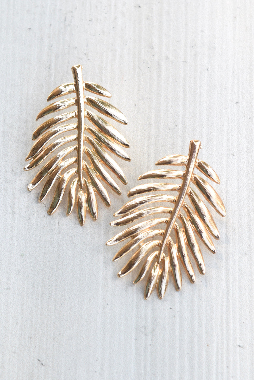 Leaf Post Earrings