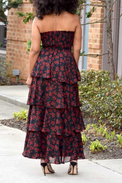 Floral Blossom Tiered Dress