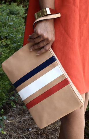 Racer Stripe Clutch