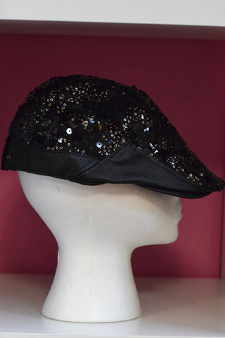 Ivy Cap- Black Sequin