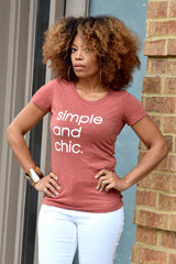 Simple & Chic Rust Tee