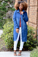 Denim Break Away Trench