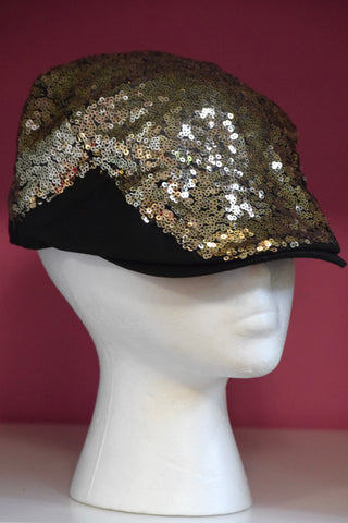 Ivy Cap- Gold Sequin