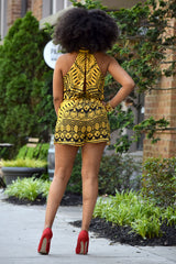 Tribal Open Back Romper