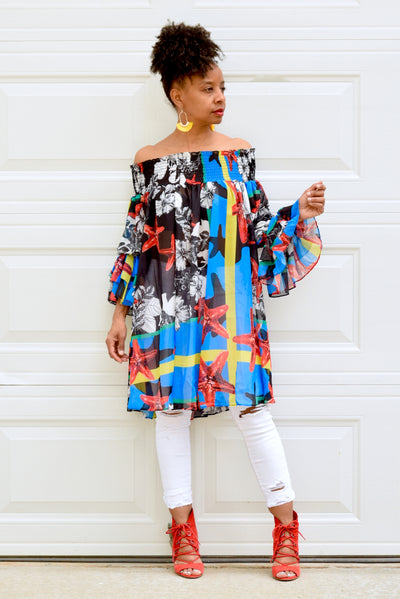 Starfish Off Shoulder Tunic
