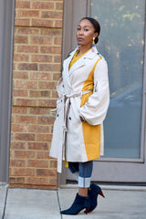 Colorblock Trenchcoat