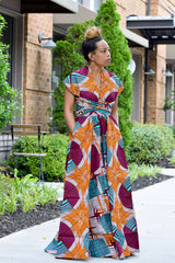 Tafari Infinity Wrap Dress