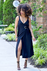 Grommet Wrap Dress