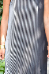 Mock Neck Pleat Dress