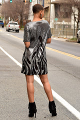 Sequin Flame Dress