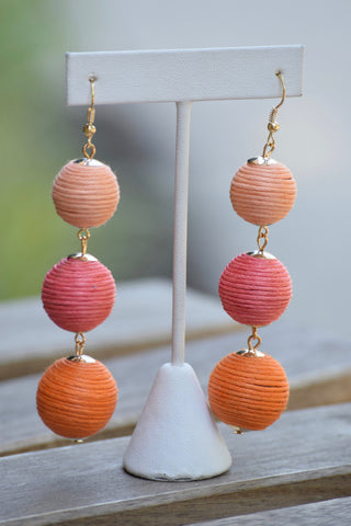 Ombre Medium Bead Earrings- 3 colors