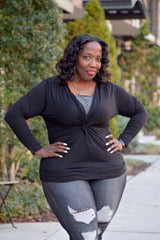Curvy twist Front Top