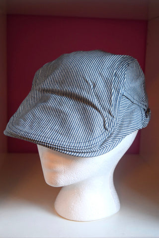 Ivy cap blue and white pinstripe