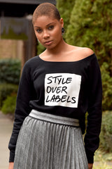Style Over Labels Box Sweatshirt