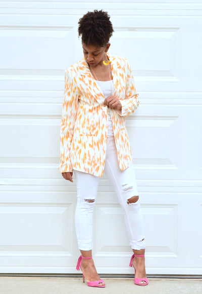 Watercolor Open Blazer