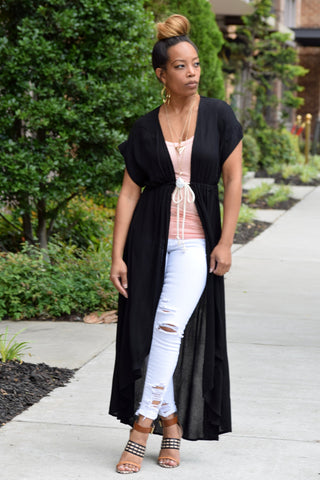 Belted Hi Low Duster