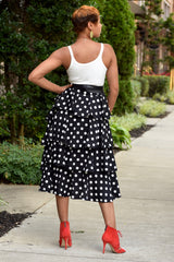 Polka Dot Tiered Skirt