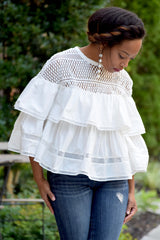 Crochet Ruffle Tier Top