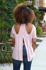 Open Back Cut Out Tee