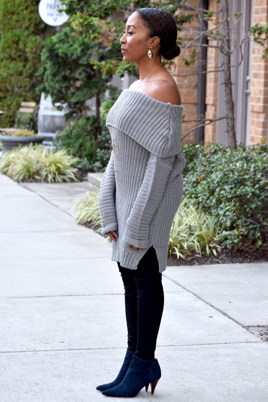 Chunky Off Shoulder Sweater (S-3XL)