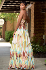 Watercolor Cross Back Maxi Dress - 2 Colors