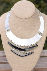 Broken Layer Plate Necklace