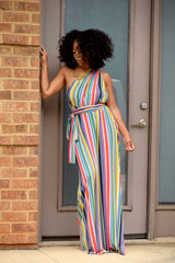 Rainbow Stripe Multi Way Wrap Maxi