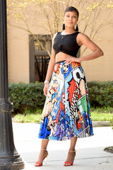 Elmo Pleat Skirt