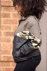 Camo Colorblock Track Jacket
