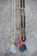 Beaded Tear Drop Necklace