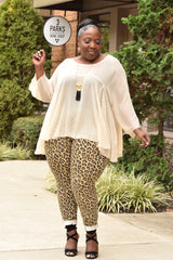 Curvy Sheer Blousey Blouse