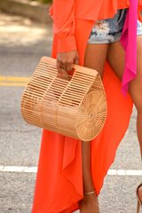 Round Large Bamboo Bag