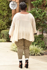 Plus Size Sheer Blouse