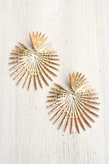 Starburst Dangle Earrings -Gold
