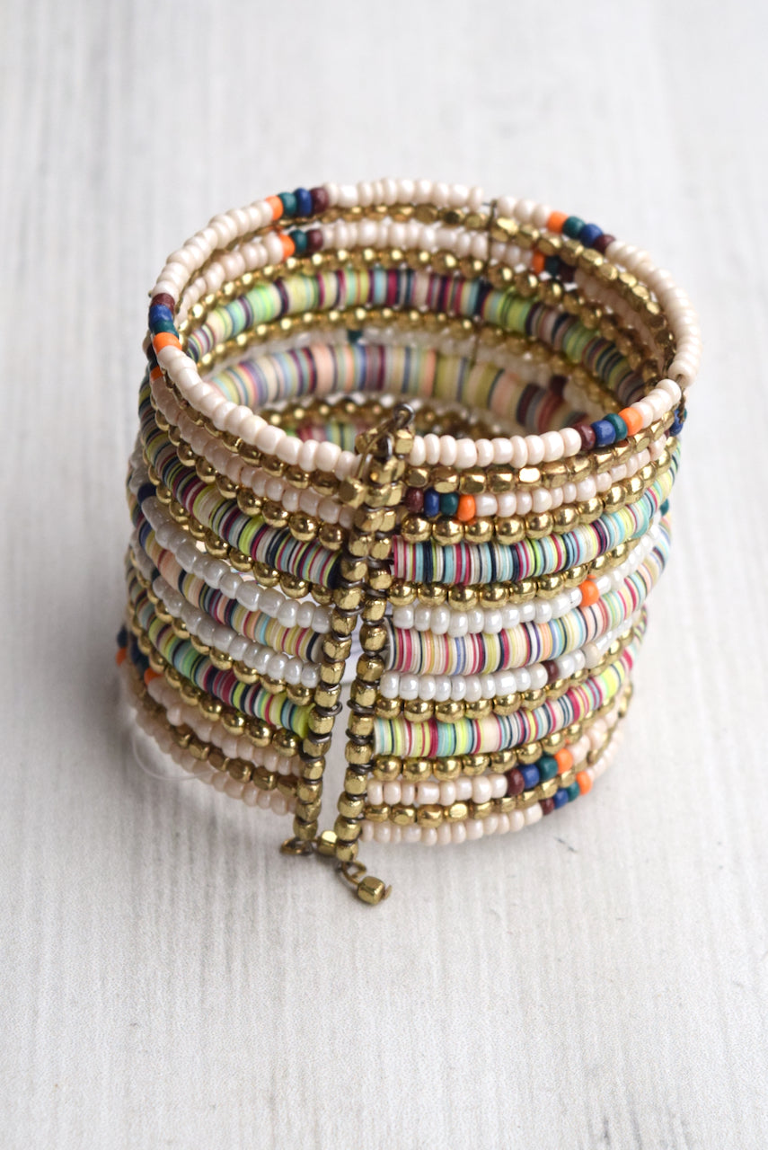 Mixed Bead Cuff Bracelet