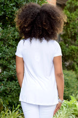 Braid Front Tee