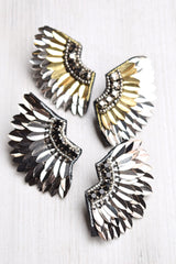 Stone Wing Earrings