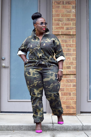 Curvy Camo Flight Suit