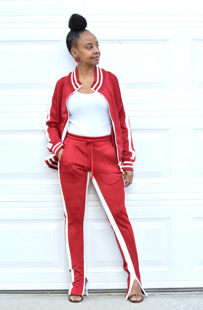 Slit Shoulder Tracksuit