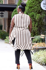 Curvy Stripe Hi Low Top