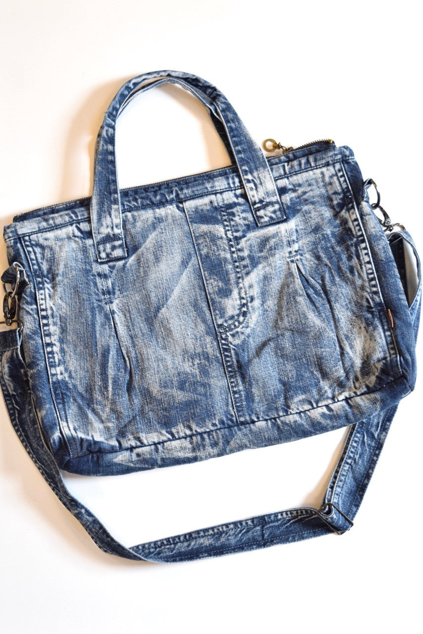 Denim Crossbody Tote