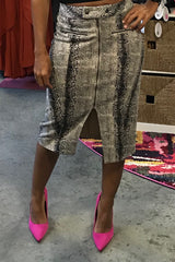 Python Zipper Pencil Skirt