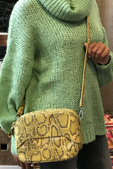 Python Square Crossbody Bag
