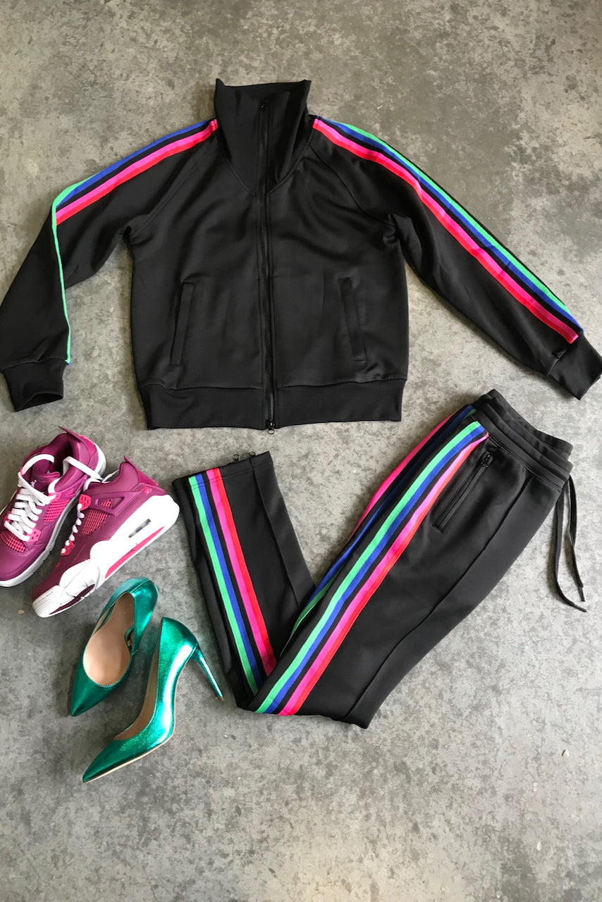Racer Stripe Jogger Set
