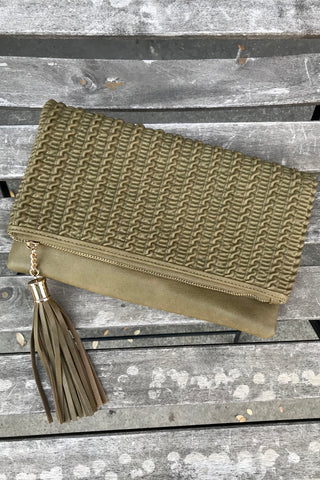 Crinkle Fold Over Clutch