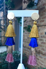 Layer Tassel Earrings -2 Colors