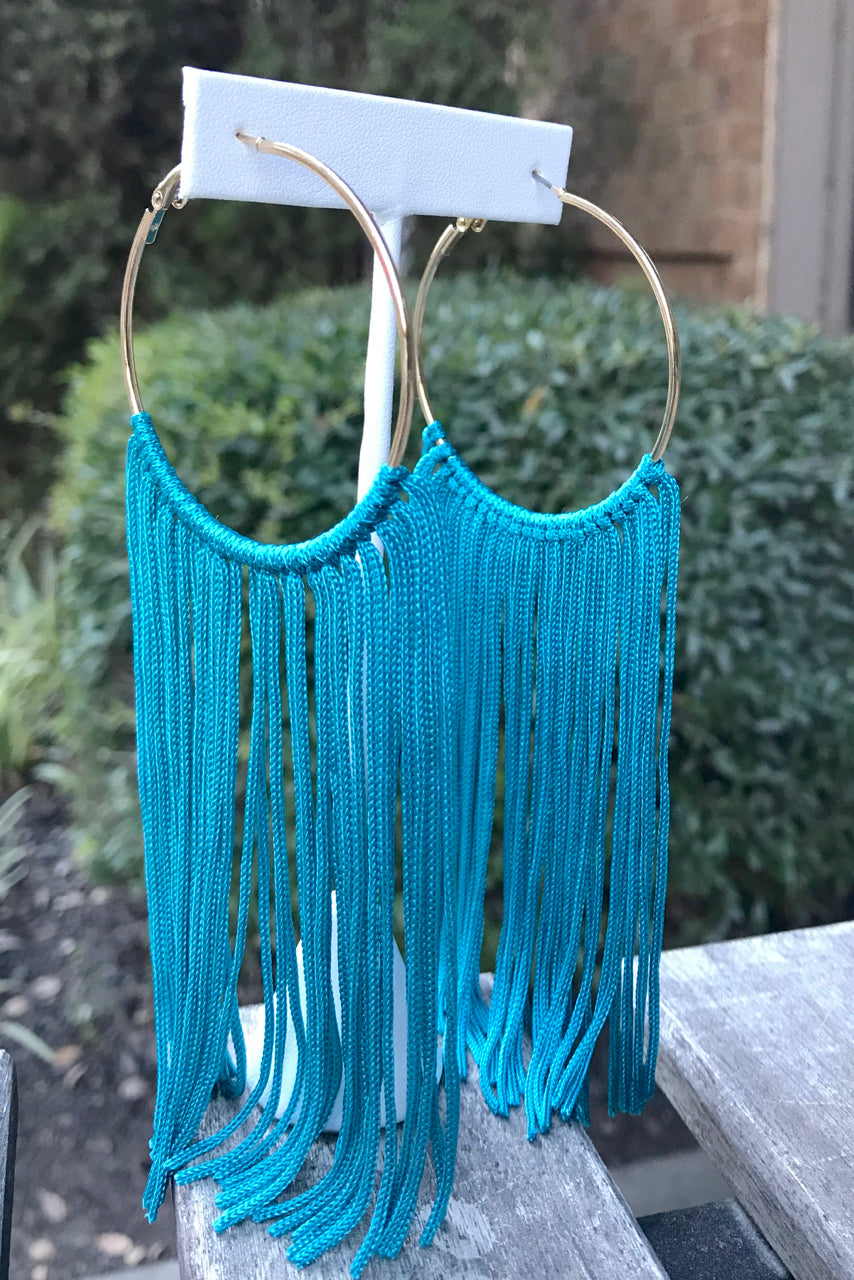 Tassel Hoop Earrings -2 Colors