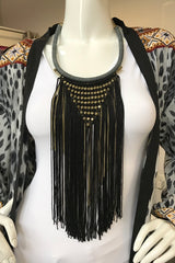 Tassel Bead Statement Necklace