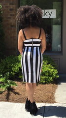 Stripe Tulip Hem Dress